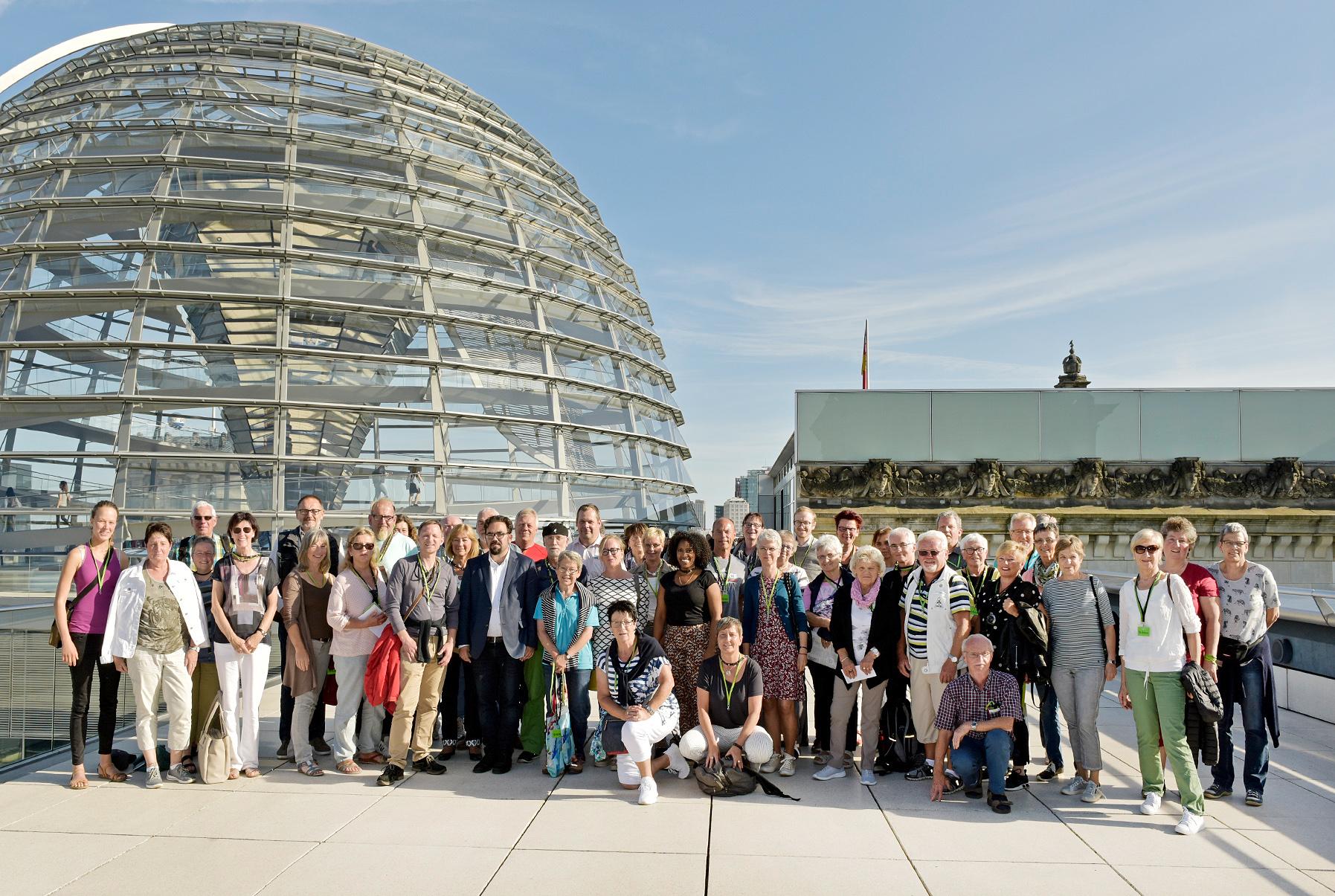 Tagung für politisch Interessiete, aus Tübingen und Sigmaringen bei Chris Kühn MdB vom 12. – 15.06.2018 in Berlin