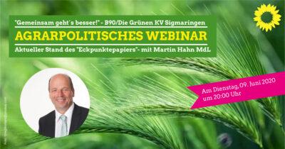 Gemeinsam geht´s besser, Martin Hahn, MdL, im Gespräch mit Bauern, Naturschützern und Verbrauchern online @ online