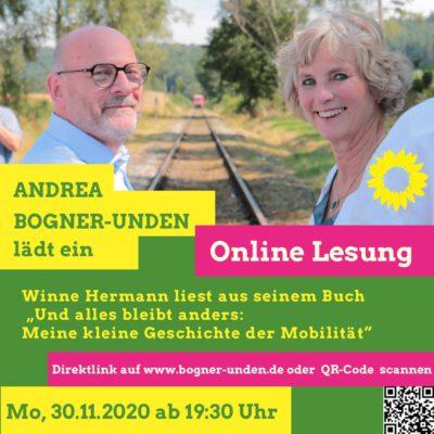 Online Lesung mit Winne Hermann @ online