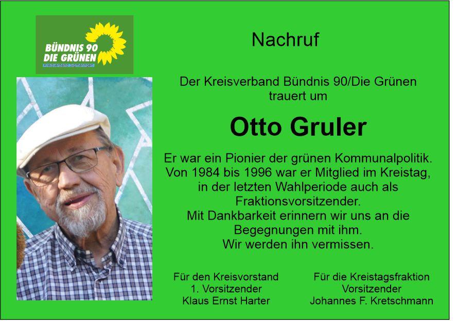 Nachruf Otto Gruler