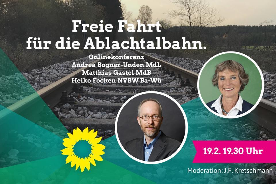 Freie Fahrt für die Ablachtalbahn Online Gespräch mit Heiko Focken, Matthias Gastel und Andrea Bogner-Unden