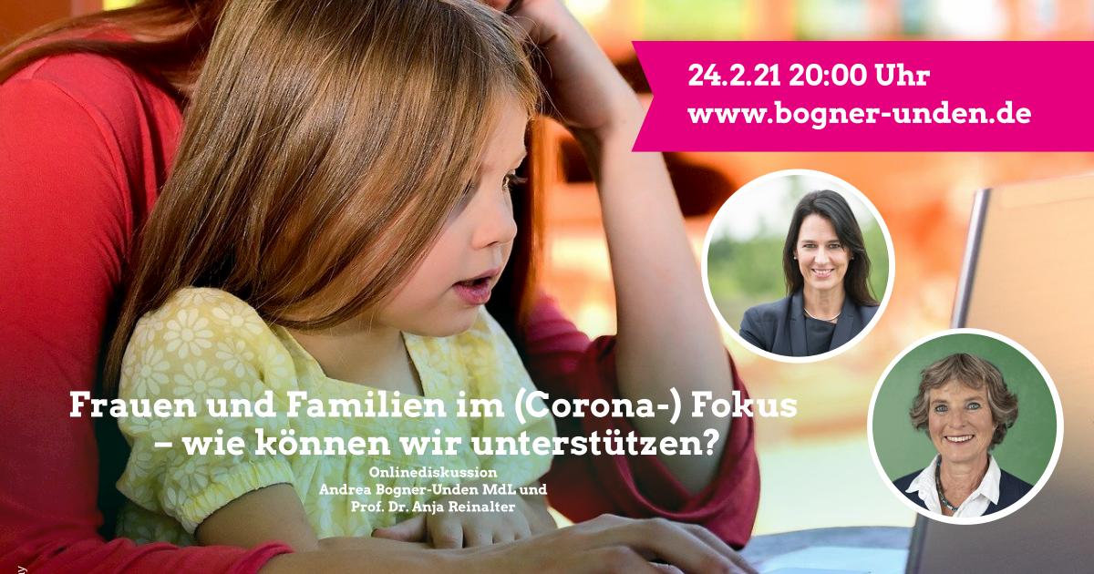Frauen und Familien im (Corona-) Fokus – wie können wir unterstützen?