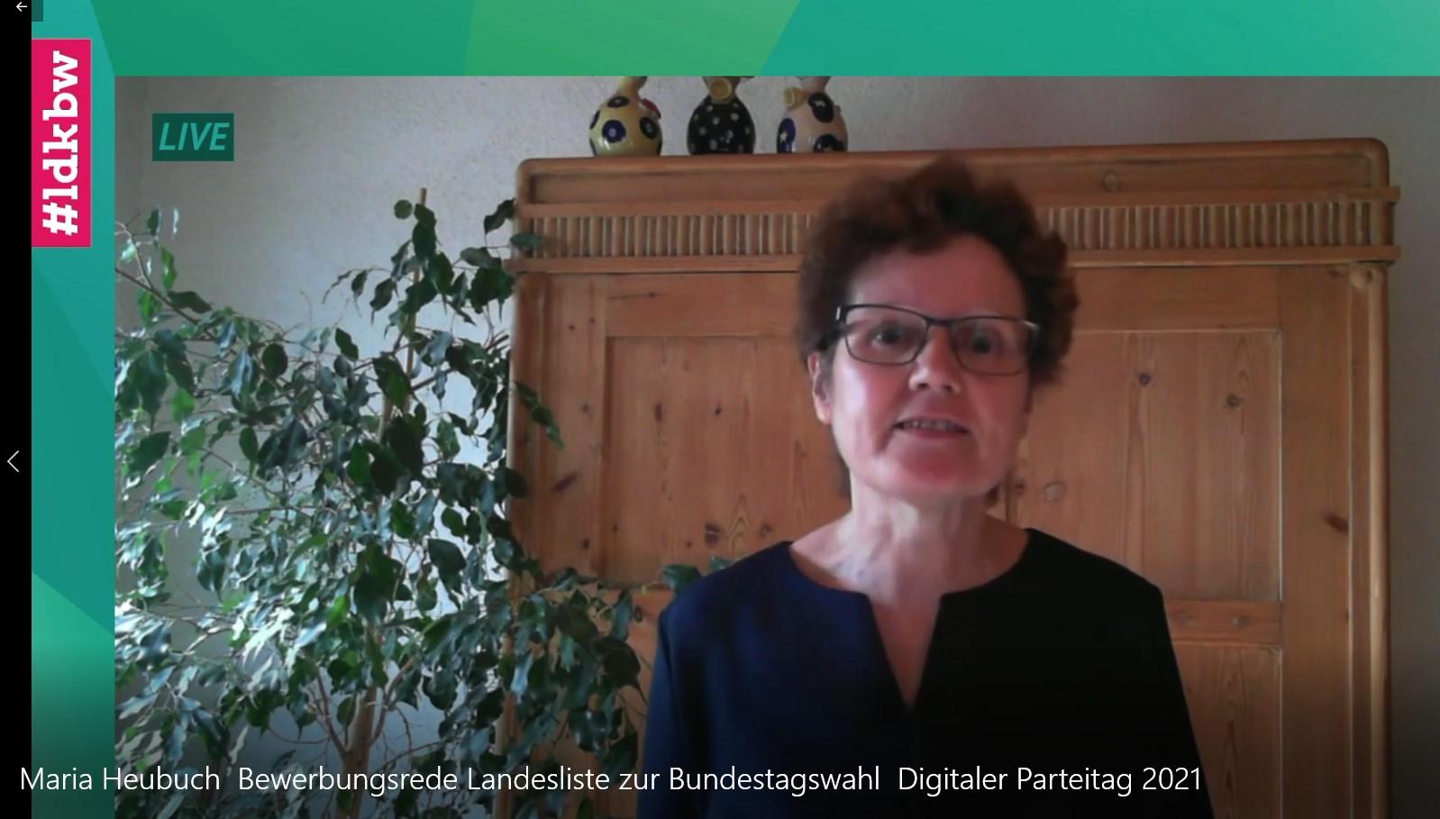 Maria Heubuch, die Bundestagskandidatin unseres südlichen Landkreises auf die Landesliste gewählt