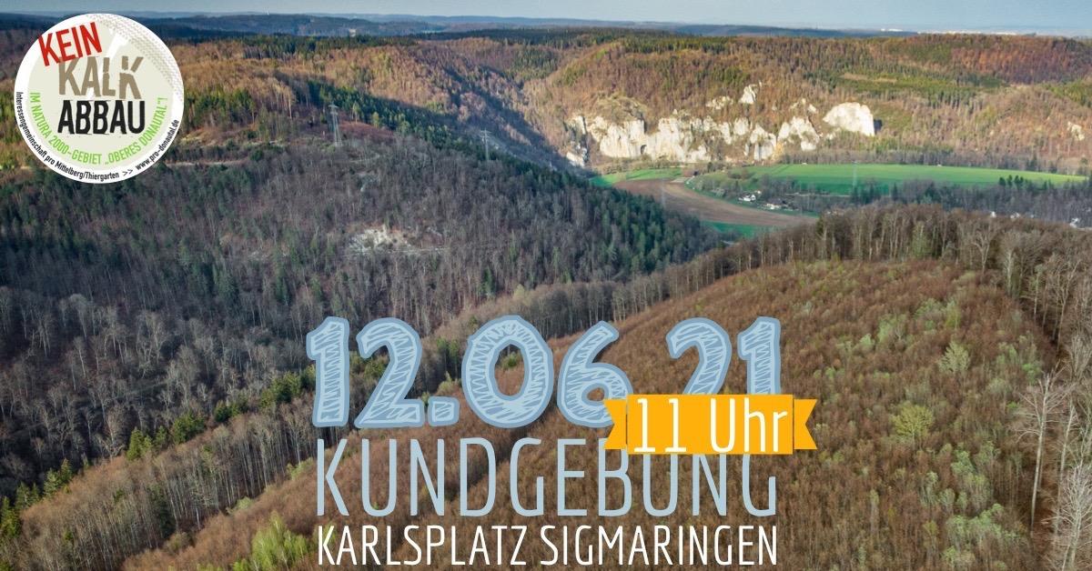 Kein Kalkabbau im Donautal
