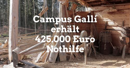 Campus Galli erhält 425.000 € Nothilfe