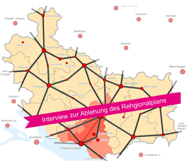 Interview zur Ablehnung des Regionalplans